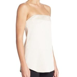 Theory Strapless Silk Top